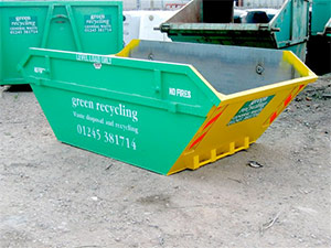 Skips for bulk glass collections