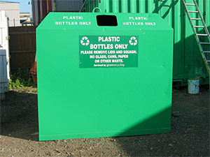 plastic bottle bank