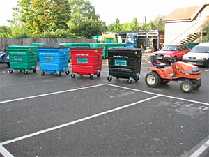 wheeled bin tow system